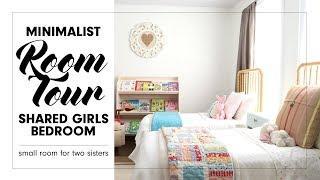 MINIMALIST ROOM TOUR | SHARED GIRLS BEDROOM