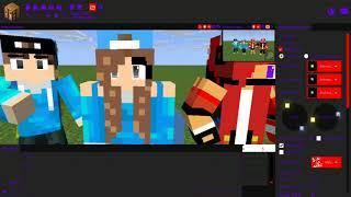 speed render mine imator, Me, Rifka, Tyo, and Tya