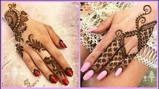 Simple Mehandi Designs For Hands || Latest Mehndi Designs For Beginners Images