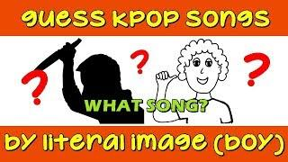 GUESS KPOP SONGS BY LITERAL IMAGE (BOY GROUPS) | EASY |