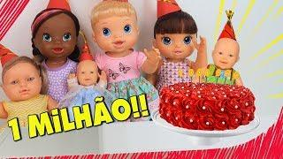 COMO COMEMORAR 1 MILHÃO DE INSCRITOS!! - Lilly Doll
