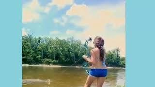 sexy girl bownfishing, amaging (KKS)