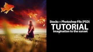 Imagination To The Sunset | Photoshop Manipulation Photo Effects Tutorial (PSD)