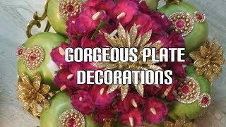 Decorative wedding plate decorations | Gorgeous wedding & baby shower plate decorations