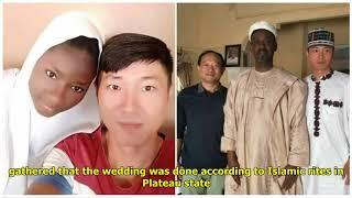 Chinese man embraces Islam, marries a Muslim Nigerian girl (photos)