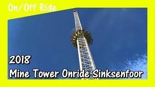 [4K] Mine Tower Onride | Sinksenfoor Antwerpen 2018