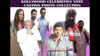 Kollywood Celebrities Casting Vote Photo Collection