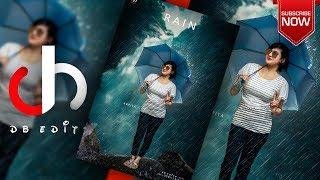 How To Edit Girls Photo with Rain Effect in Photoshop?-By DB Edits