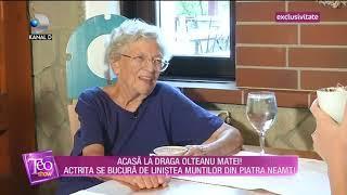 Teo Show (10.09.2018) - Draga Olteanu Matei se bucura de linistea muntilor din Piatra Neamt!