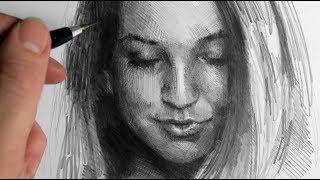 Drawing of a beautiful girl - Graphite pencil