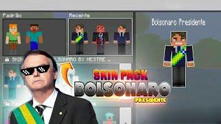 BOLSONARO PRESIDENTE NO MINECRAFT - BOLSONARO SKIN PACK PARA MINECRAFT POCKET EDITION (MCPE 1.8)