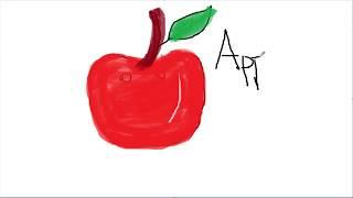 Drawing for Kids | apple | Picture coloring rush news
