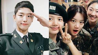 Fans Love How Innocent BLACKPINK`s Lisa and PENTAGON`s Hongseok Look Like with No Makeup in the Army