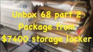 $7400 storage locker packages UNBOXING ???? 68 massive celebrity black & white photo collection