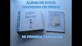 Álbum de fotos niño Mi Primera Comunión Modelo 4 SANTIAGO