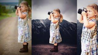 Cute baby girl photo Editing in PicsArt or sanpsed / background create tutorial / by Surajit creati