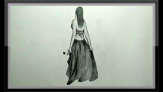 Pencil Drawing An Amazing Girl Picture Easy