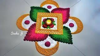New Stylish Rangoli Designs Simple and easy Rangoli Designs ll Photo Collection images design ll
