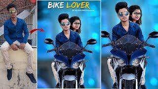 Bike manipulation editing tutorial with girl in PicsArt Real CB Editing