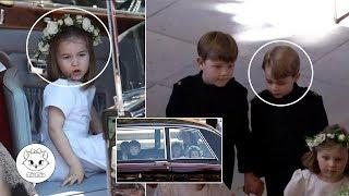 Adorable Pictures of George and Charlotte at Prince Harry's Wedding