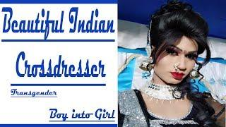 Boy into Girl transformation | Indian Cross-dresser