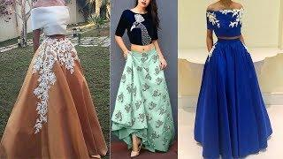 Crop Top Lehenga Designs 2018-2019