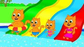 Cat Family Live Cartoons for Kids | NON-STOP New Cartoon by Cat Family and Friends