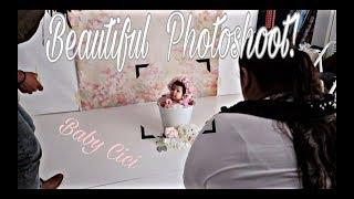 BABY'S FIRST PHOTOSHOOT! | ADORABLE Baby Girl 1st Photos