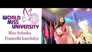 World Miss University 2016-Miss Sri Lanka Pramodhi Kaushalya's China Photo Collection