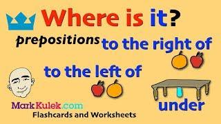 Prepositions - under, to the right of, to the left of | English For Communication | ESL