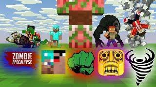 MONSTER SCHOOL SEASON 7 : ZOMBIE APOCALYPSE - NOOB vs PRO - TORNADO - GIANT - Minecraft Animation