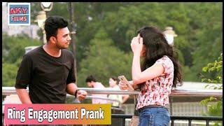 Fake Ring Engagement Prank On Cute Girl || AKY FILMS||