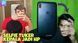 Edit Foto Selfie Tukar HP jadi Kepala wkwk - Tutorial Picsart Indonesia
