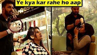 Salon Prank on Cute Girls | Epic Reactions | Unglibaaz