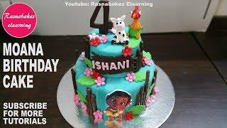 how to make moana birthday cake design for girls images pic ideas happy birthday bakery cake maker