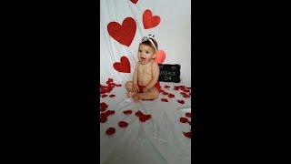 DIY-Valentines Day Baby photo shoot at home ideas    New Born Photography
