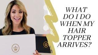 How to Lauren Ashtyn Collection european human hair topper volume extension