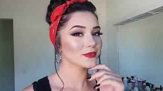 Make Pin-up para fotos - Concurso Garotas Falcões 2018 - BD/MG
