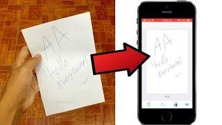Escanea cualquier Foto o Documento desde tu iPhone ! - iOS  (Super facil)