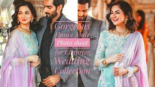 Gorgeous Hania Amir Photo shoot for Chatoyer Wedding Collection 2018