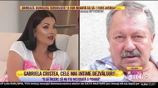 """Gabriela Cristea, plină de emoție și extrem de sinceră: """"Părinții nu erau mândri de mine"""""""