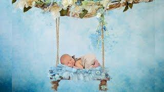 NEWBORN PHOTO SESSION For a Baby Boy | Enhancing Newborn Photography with Digital Backgrounds