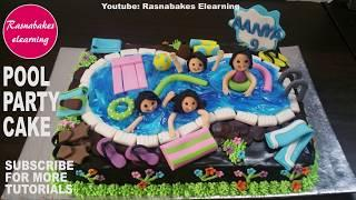 happy birthday cake:pool party cake for kids boys girls homemade bakery maker videos recipes design