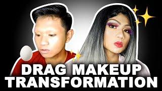 DRAG MAKEUP TRANSFORMATION!!! ????????❤️ (Boy to Girl)