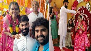 Choreographer Raghu and Singer Pranavi Baby Shower Photos||Omkar