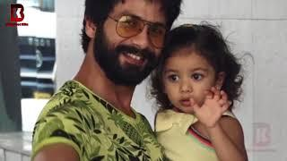 Shahid Kapoor With CUTE Daughter Misha Arrive To See Their BABY BOY & Wife Mira Rajput At Hospital