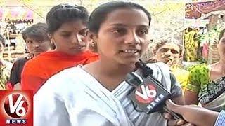 Warangal Petrol Attacked Girl Ravali Passed Away | Villagers Speaks About Ravali | V6 News