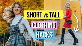 Short vs Tall Girl Clothing Hacks! 8 Outfit Ideas!