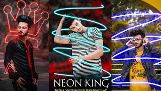 Neon Glowing New Concept Photo Editing || Neon King Instagram YouTube Trending Photo Editing Picsart