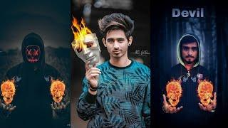 JB - Fire Skull In Hand - PicsArt Viral Creative Photo Editing Tutorial - Viral Photo Editing 2019